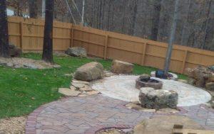 block edged stone walkway