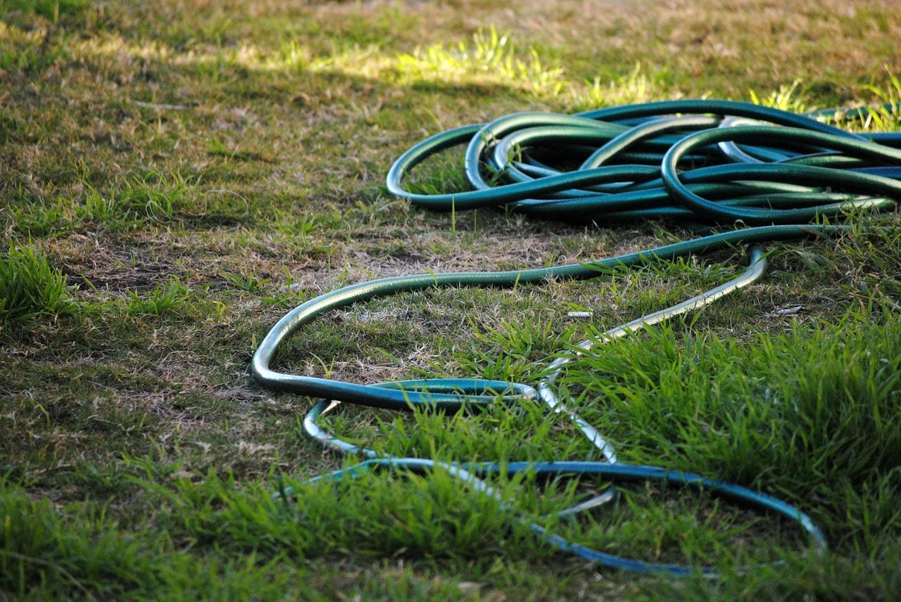 hose strung out