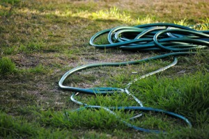 hose strung out