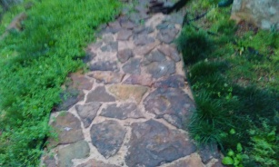 Native stone walk way