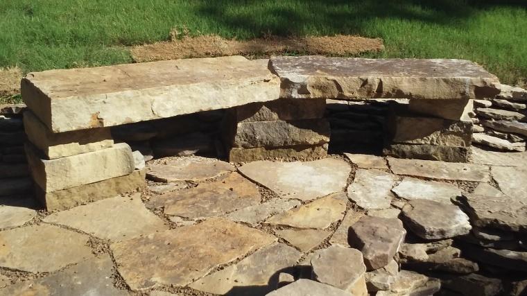 custom stone bench