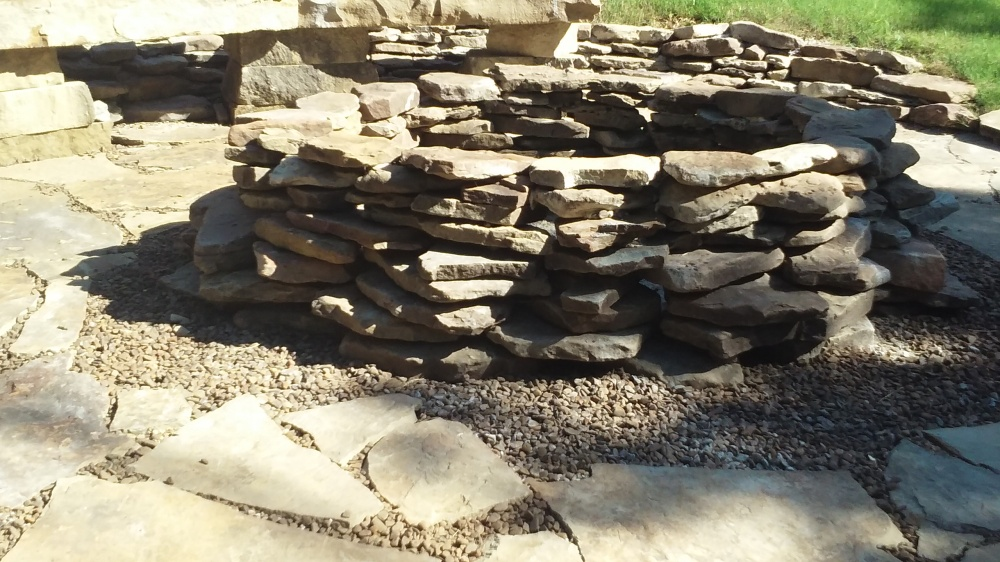 native stone fire pit