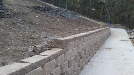 Retaining Wall with block by Keystone
