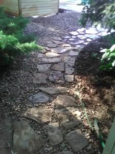 Native stone walkway
