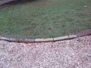 cut boarder stone edging